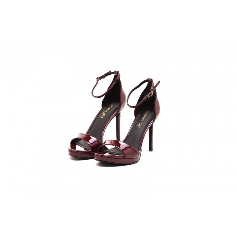 MADDEN GIRL - Glossy Sandal - Burgundy