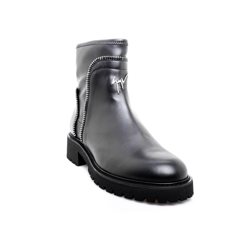 GIUSEPPE ZANOTTI - Kommando Leather Boot - Black