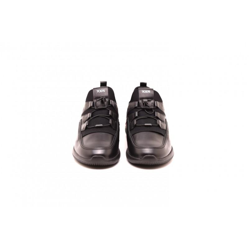 TOD'S - Sneakers SCUBA in pelle - Nero/Rosso