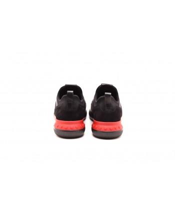 TOD'S - SCUBA leather sneacker - Black/Red