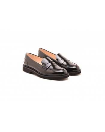 TOD'S - Mocassino in pelle COLLEGE  - Nero