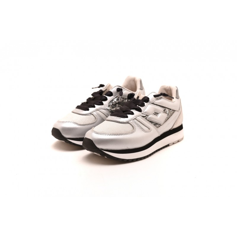 LOTTO LEGGENDA - Sneakers TOKIO WEDGE - Dark Silver