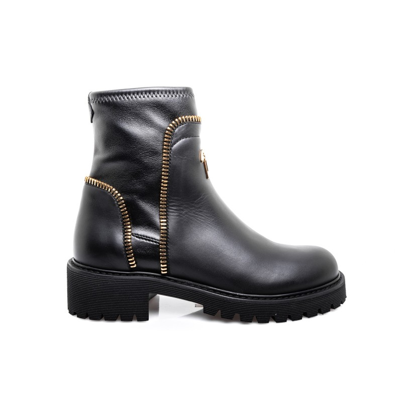 GIUSEPPE ZANOTTI - Leather Boot - Black