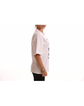 PHILOSOPHY di LORENZO SERAFINI - T-Shirt in Cotone con Stampa Logo - Bianco