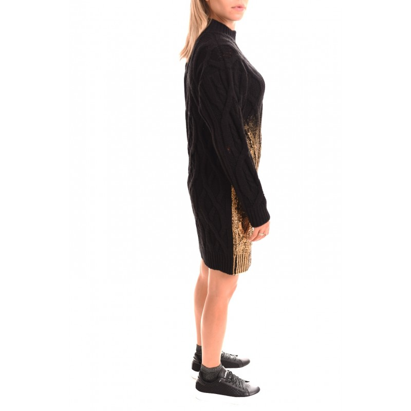 PINKO - Estone Wool Dress - Black/Gold