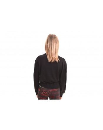 LOVE MOSCHINO - Long sleeves cotton t-shirt - Black
