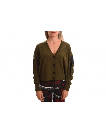 LOVE MOSCHINO - Cardigan sweater in wool - Green