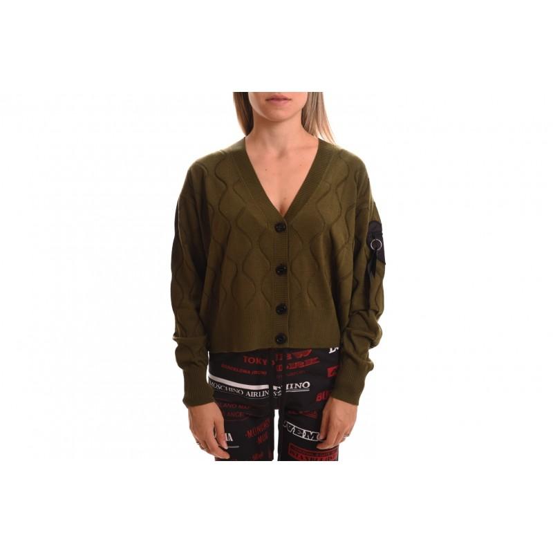 LOVE MOSCHINO - Maglia Cardigan in lana - Verde