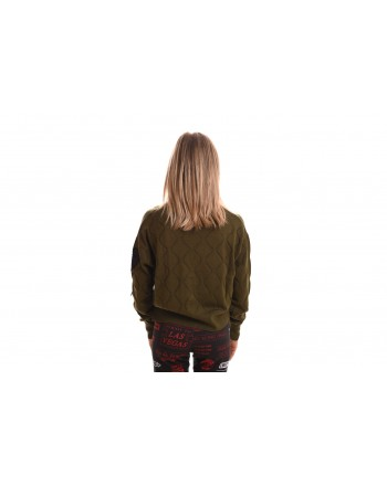 LOVE MOSCHINO - Cardigan sweater in wool - Green
