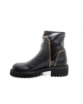 GIUSEPPE ZANOTTI - Leather Boot - Black