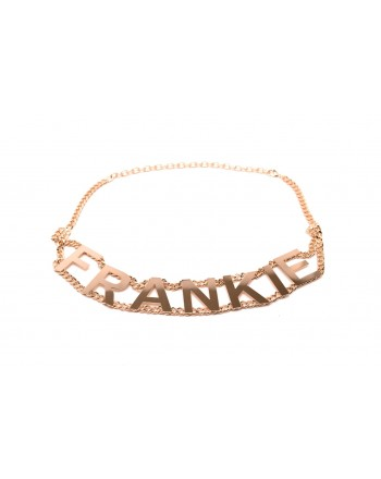 FRANKIE MORELLO - Metallic Chain Lettering Belt - Gold