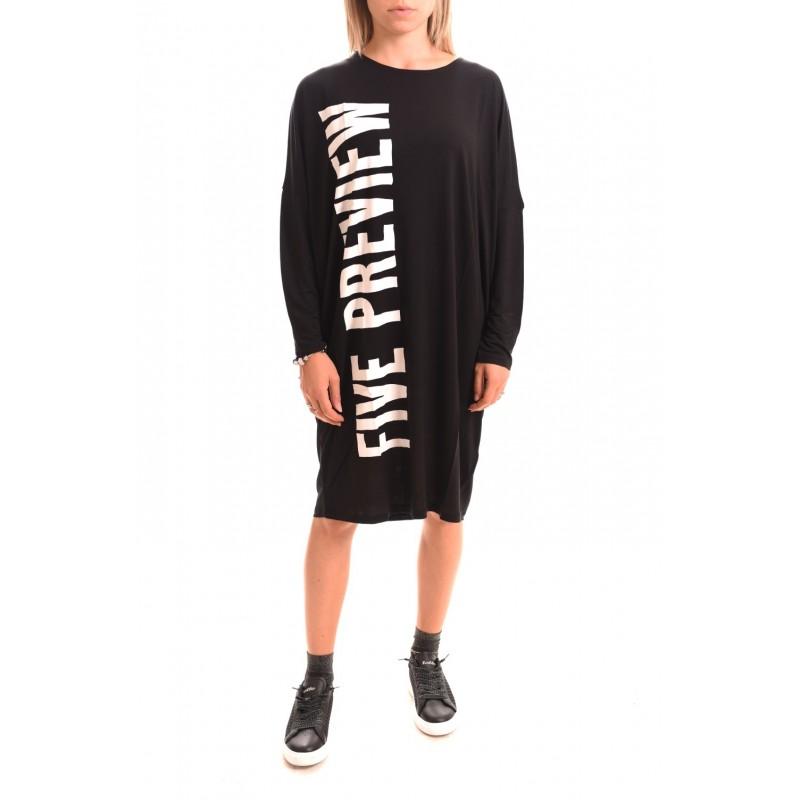 5 PREVIEW - Jersey Dress LEENA - Black