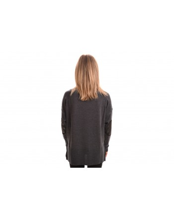 PINKO - Wool Turtleneck Knit - Blended Grey/Black
