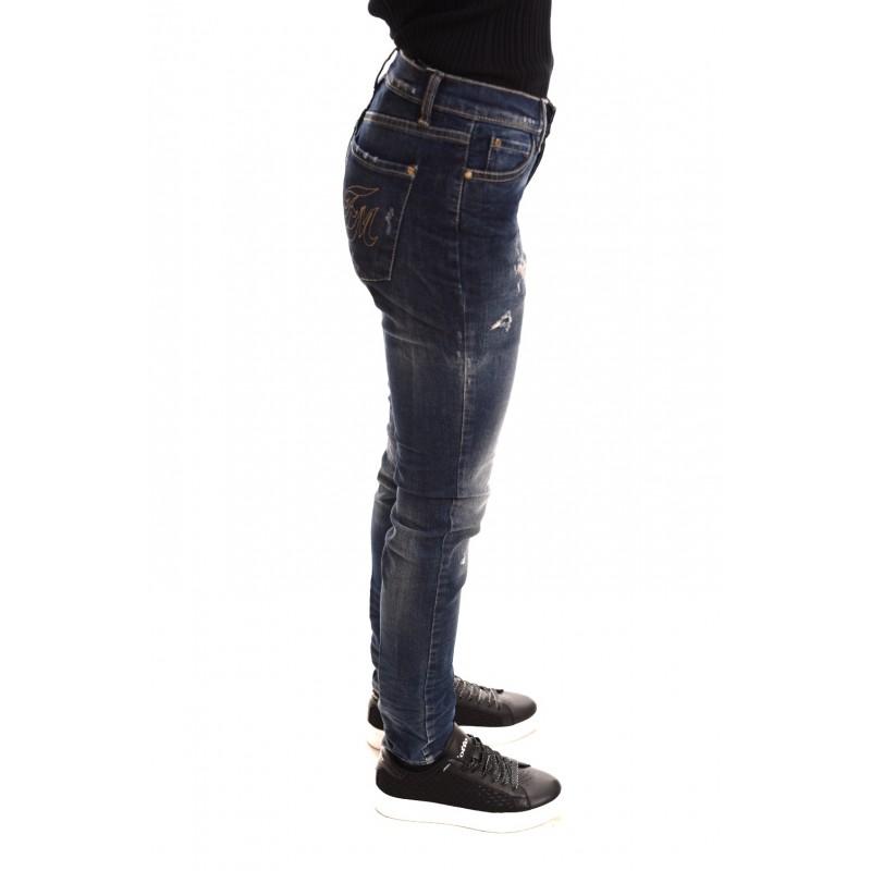 FRANKIE MORELLO - Jeans Vintage con Strappi - Denim