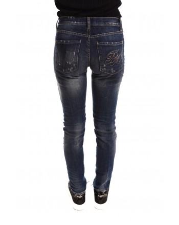FRANKIE MORELLO - Vintage Jeans with Tears - Denim