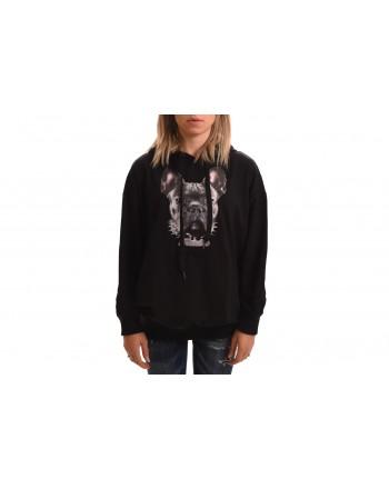 FRANKIE MORELLO - Printed Hood Sweather - Black