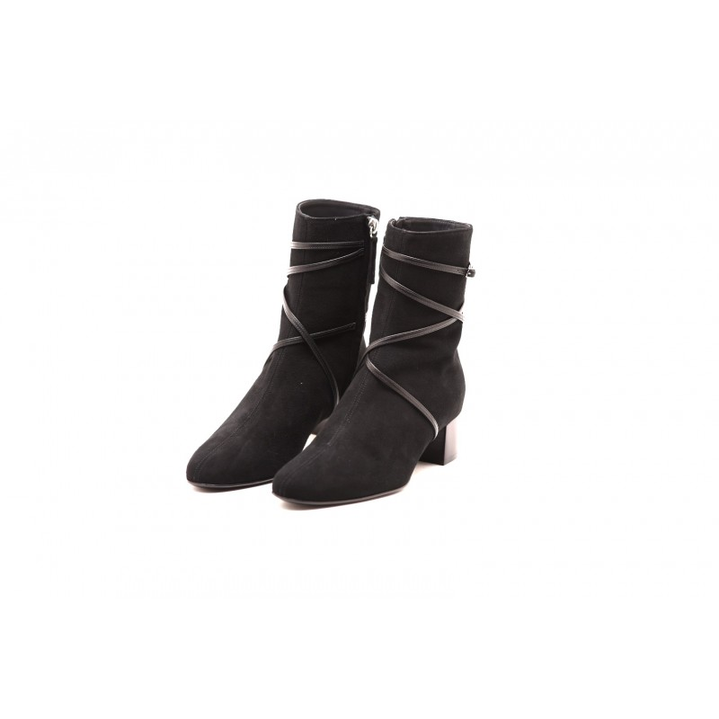GIUSEPPE ZANOTTI - Suede and Leather Boots- Black