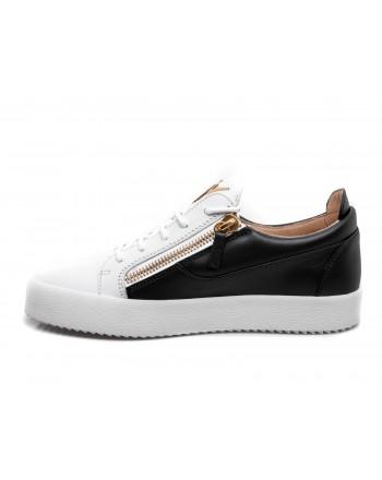 GIUSEPPE ZANOTTI - Leather Seakers - White/Black