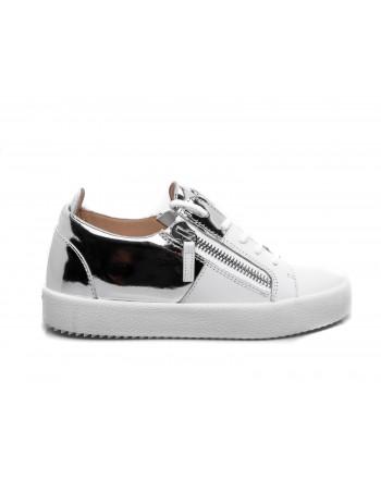 GIUSEPPE ZANOTTI - Sneakers in pelle - Bianco