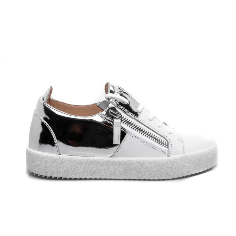 GIUSEPPE ZANOTTI - Leather Sneakers - White