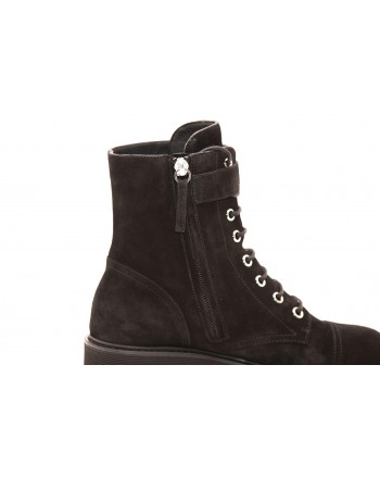 GIUSEPPE ZANOTTI - Suede Boots with Metallic Details - Black