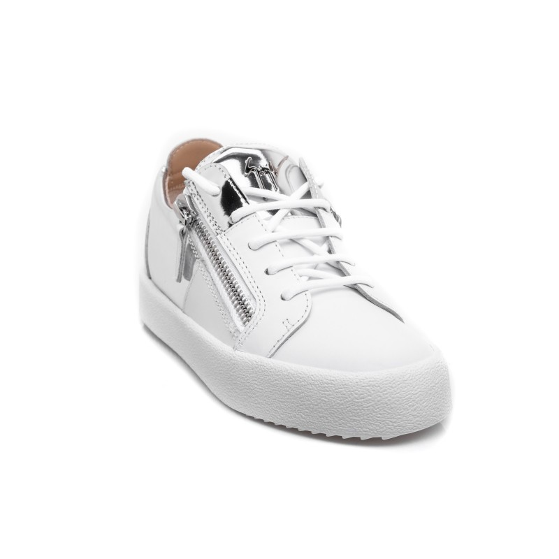 GIUSEPPE ZANOTTI - Leather Sneakers - White