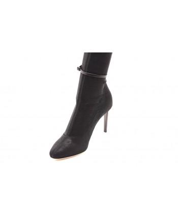 GIUSEPPE ZANOTTI -Elastic Fabric High Boots  - Black