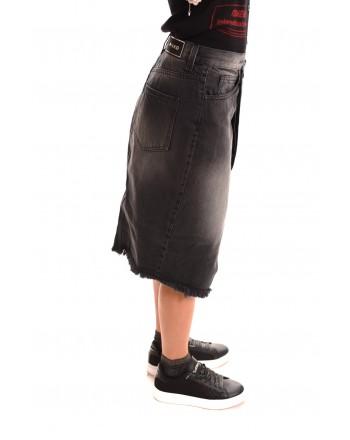 PINKO - DENIM cotton skirt - Black