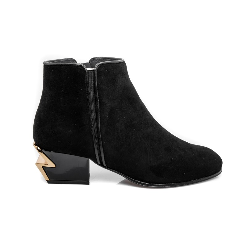 GIUSEPPE ZANOTTI - Leather Boots  -Black