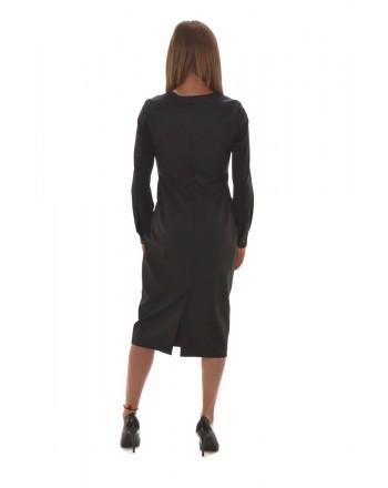 MAX MARA - CHIFFON Dress - Black