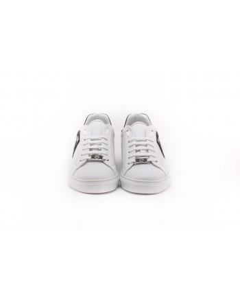 PHILIPP PLEIN - Sneakers con Logo Metallico - Bianco/Nero