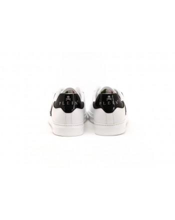 PHILIPP PLEIN - Sneakers with Metallic Logo - White/Black