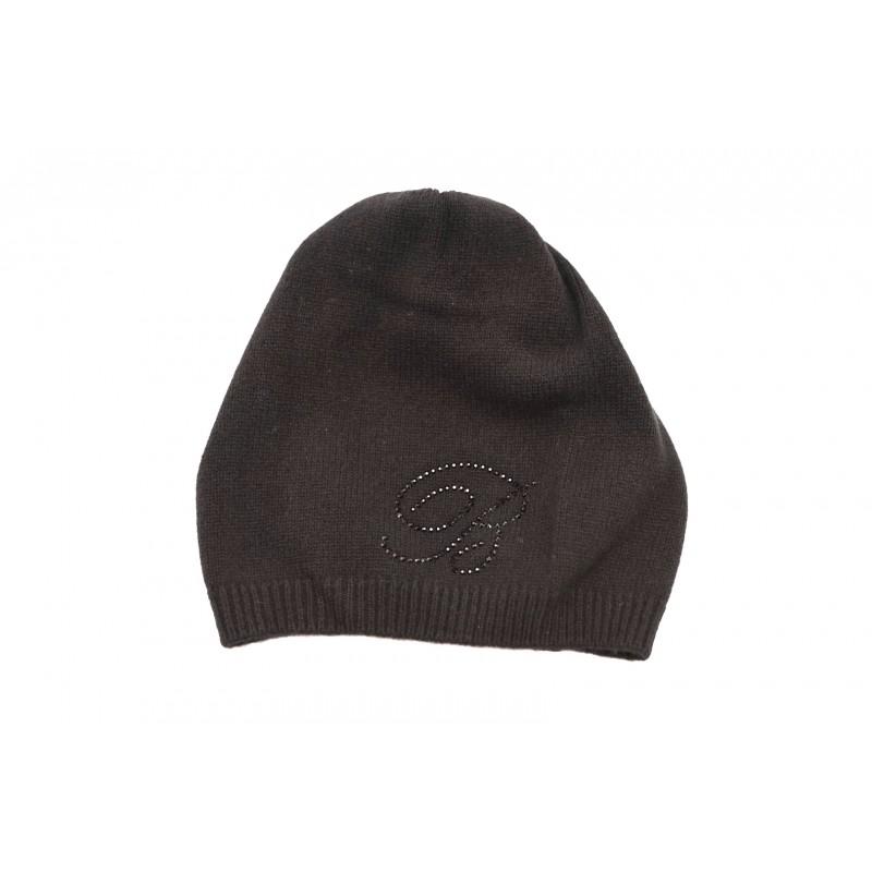 BLUMARINE - Cappello in lana con strass - Nero