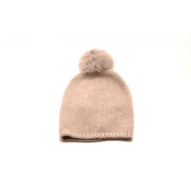 MAX MARA - Wool hat with pon-pon CRASSO - Ivory