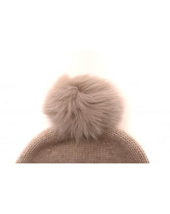 MAX MARA - Cappello in lana con pon-pon CRASSO- Avorio