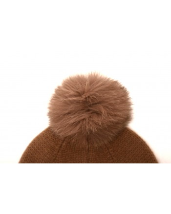 MAX MARA - Wool hat with pon-pon CRASSO - Camel