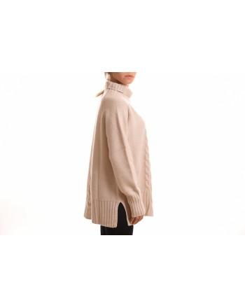 S MAX MARA - RONCO Wool Turtleneck Knit - Winter White