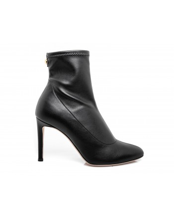 GIUSEPPE ZANOTTI - Leather Bootie Heel 9 - Black