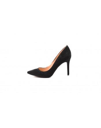 KENDALL+KYLIE -REESE Glitter Fabric Pumps - Black
