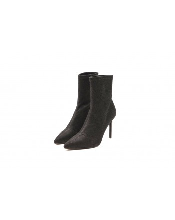 KENDALL+KYLIE -Glitter Fabric Boots  - Black