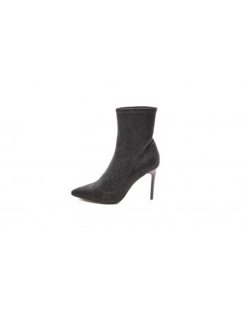 KENDALL+KYLIE -Glitter Fabric Boots  - Black