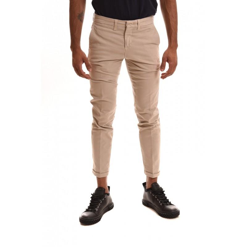 FAY - Pantalone in cotone stretch - Beige