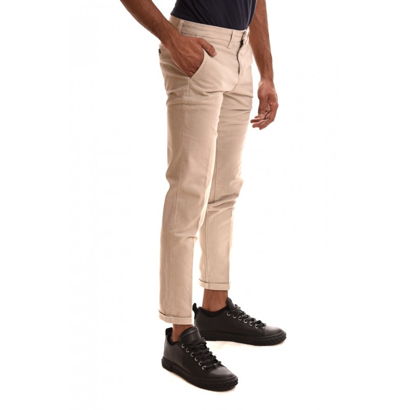 FAY - Pantalone in cotone stretch - Beige