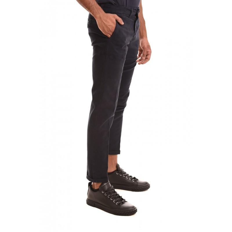 FAY - Pantalone in cotone stretch - Blu