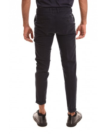 FAY - Stretch cotton trousers - Blue