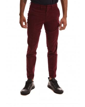 FAY - Stretch cotton trousers - Bordeaux