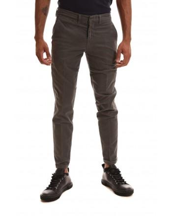 FAY - Pantalone in cotone stretch - Grigio