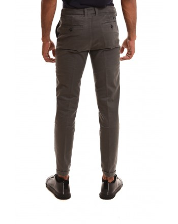 FAY - Stretch cotton trousers - Grey