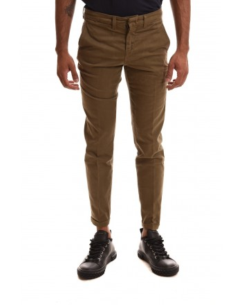 FAY - Stretch cotton trousers - Taupe