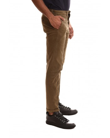 FAY - Pantalone in cotone stretch - Tortora